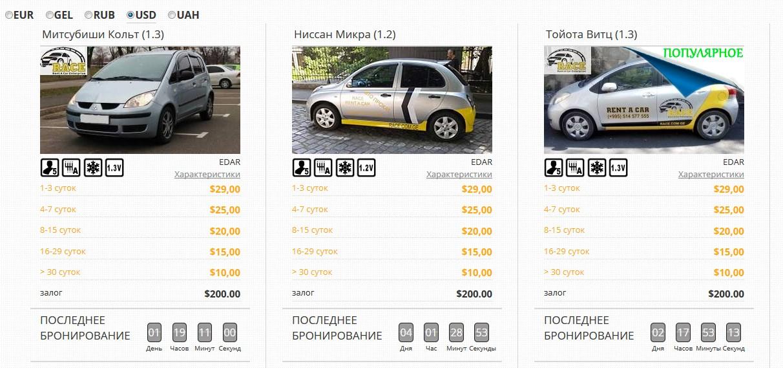 Прокат авто в Грузии - компания RACE
